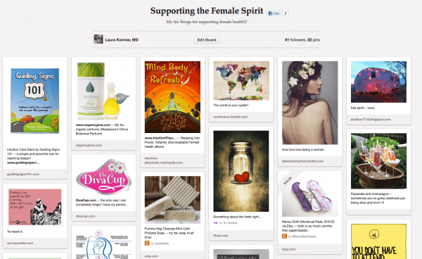 Click on over here to follow my female spirit pinboard!