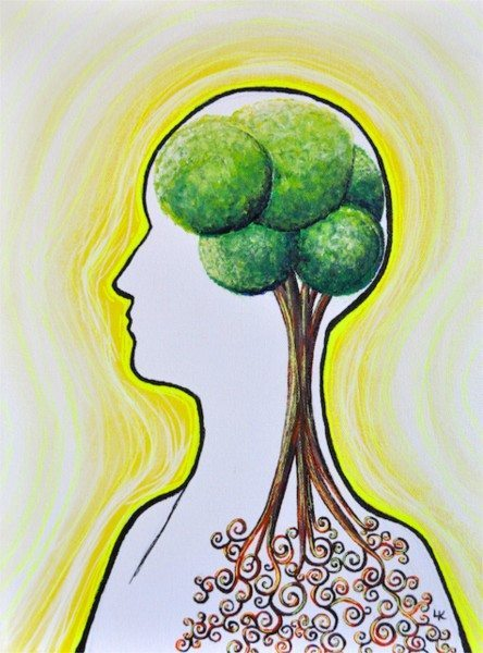 My latest painting... healthy brain, holistic healing! Click the image for more info...